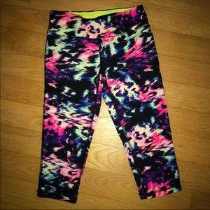 Material Girl cropped print leggings